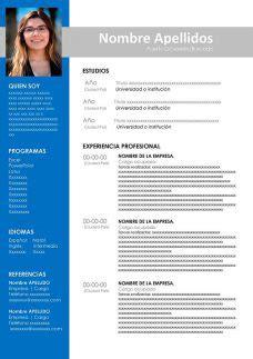 Plantillas de Currículum en Formato Word Modelos de Hoja